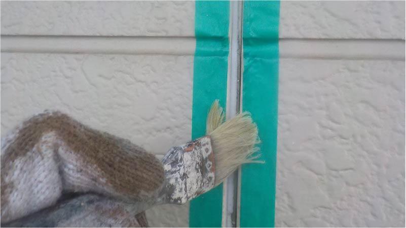外壁のプライマーの塗布