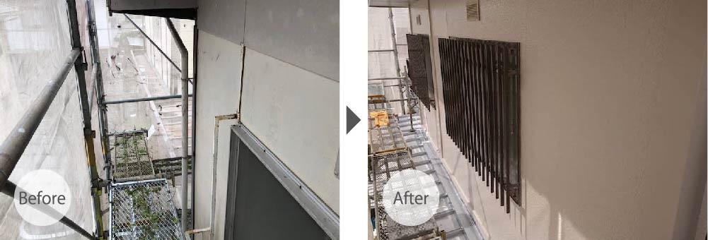 外壁の修理ビフォーアフター