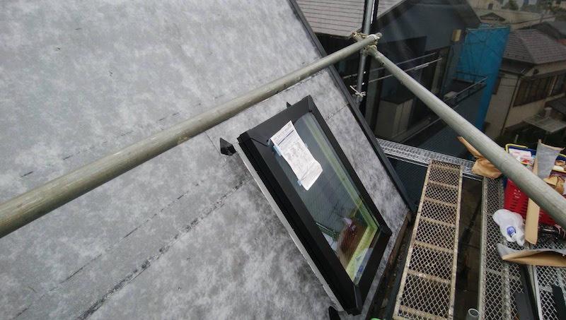アスファルトルーフィングの施工
