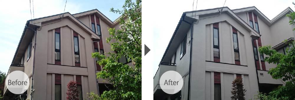 江戸川区の外壁塗装のビフォーアフター