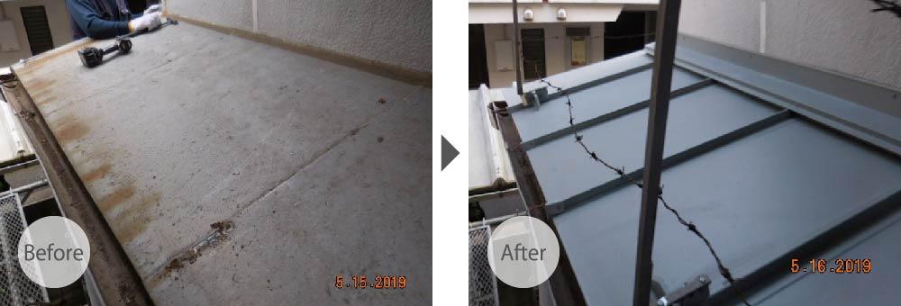 柏市の屋根葺き替え工事のビフォーアフター