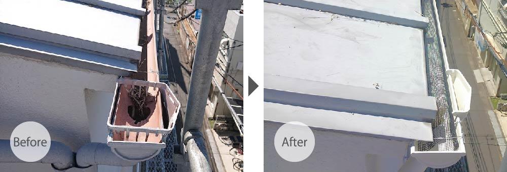 柏市の雨樋交換工事の施工事例