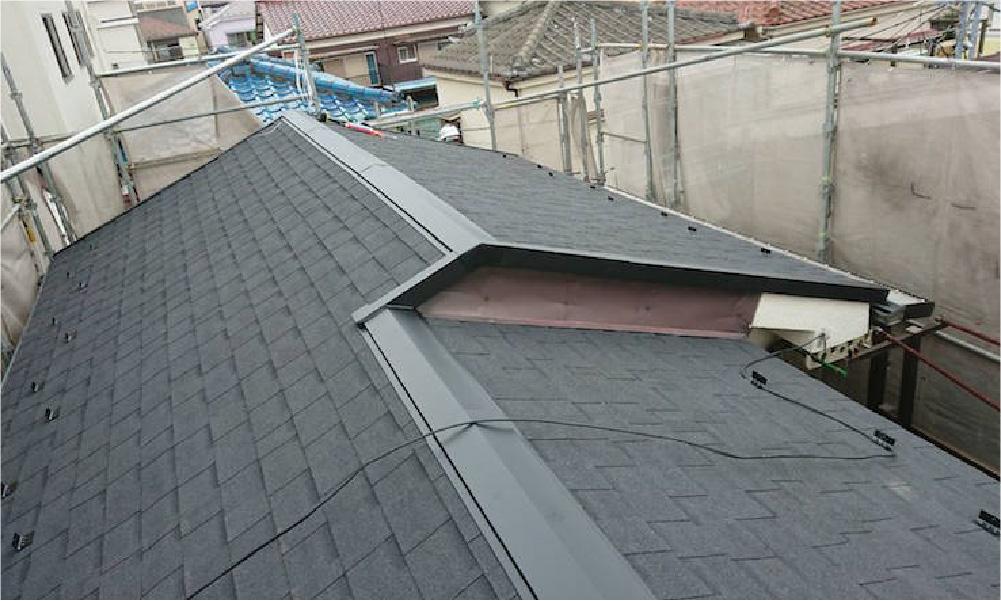 三郷市の屋根塗装工事
