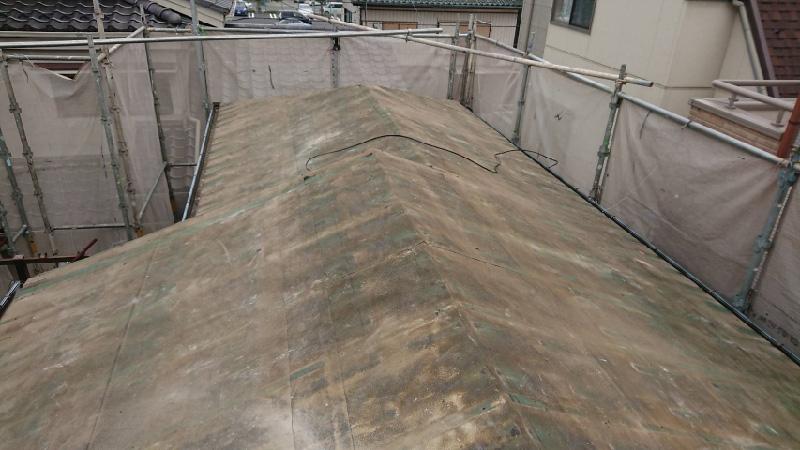 屋根材の撤去後の状態