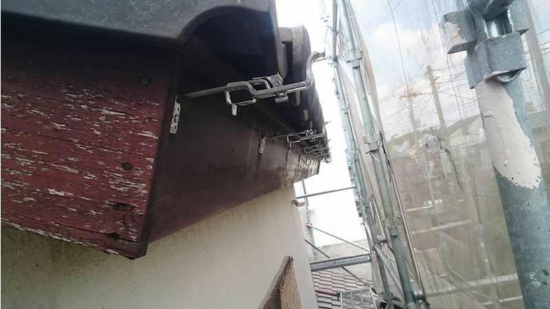 既存雨樋の撤去