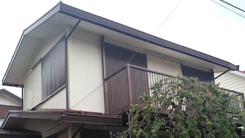 松戸市の破風板板金工事のビフォーアフター