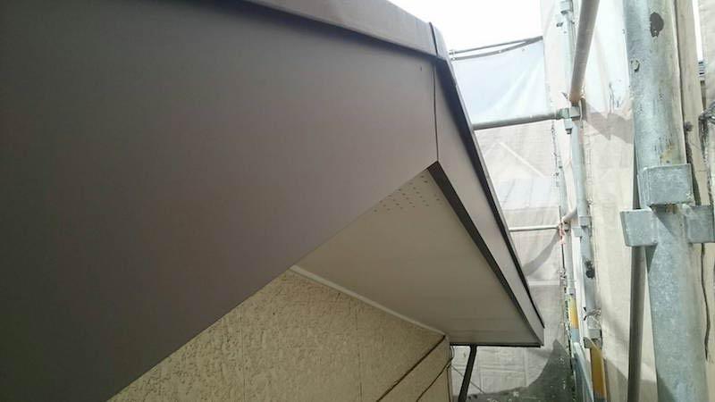 破風板板金工事の施工後の様子