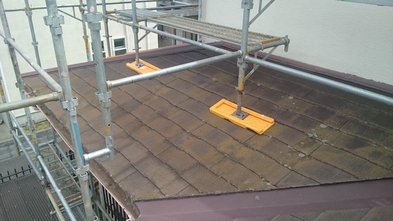 下屋根の施工前の様子