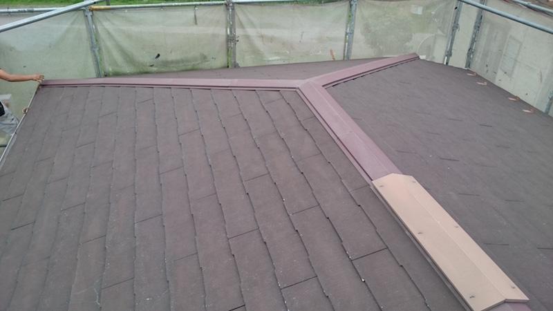 高圧洗浄後の屋根スレート瓦