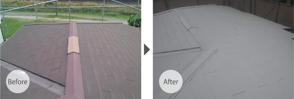 江戸川区の屋根塗装のビフォーアフター