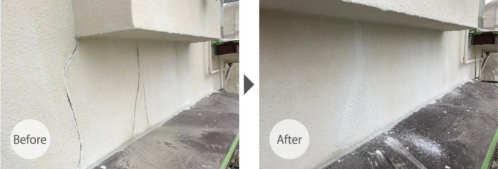 江戸川区の外壁のクラック補修