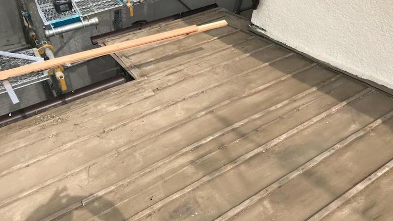 瓦おろし後の屋根の清掃