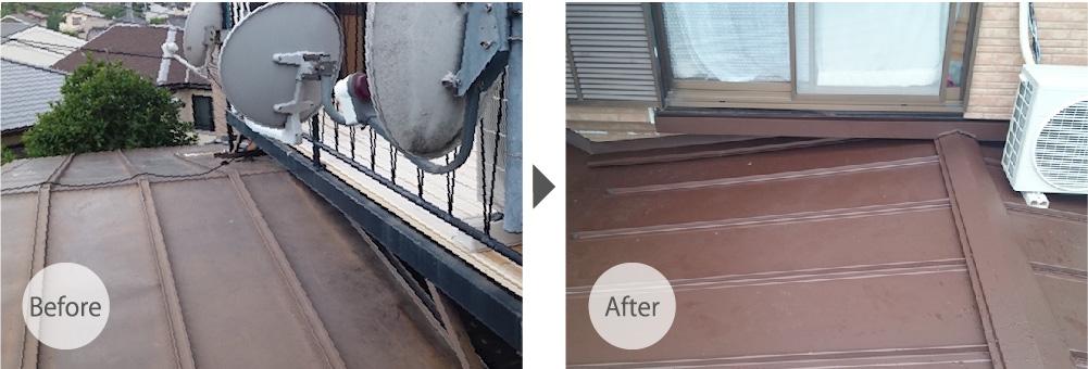埼玉県川口市の屋根葺き替え工事ビフォーアフター