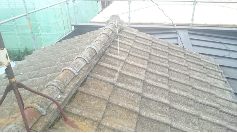 越谷市の屋根葺き替え工事の施工後の様子