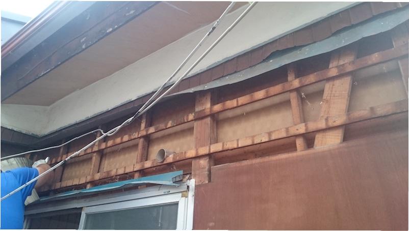 既存のサイディングの撤去・解体