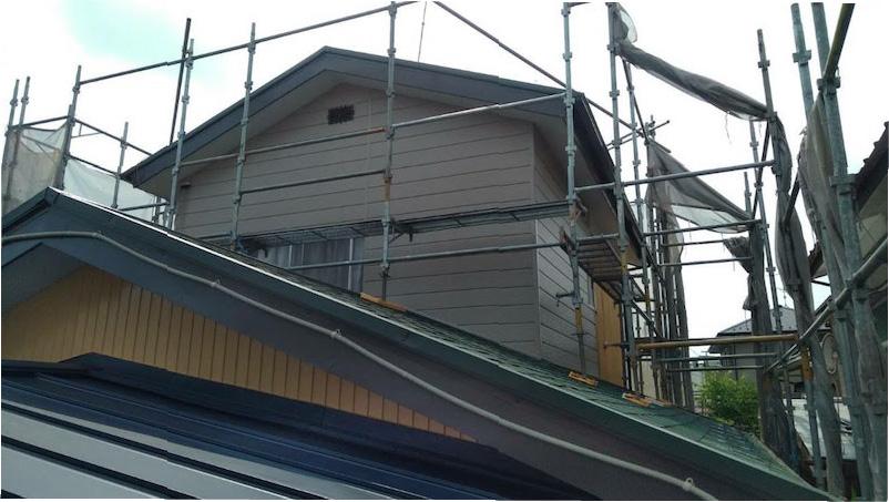 サイディング工事の施工後の様子