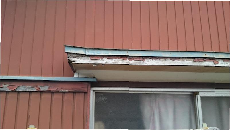 外壁サイディング工事の施工前の様子