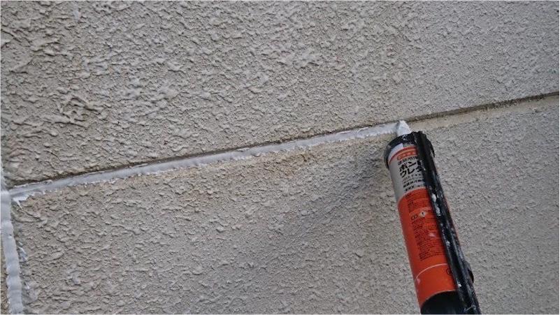外壁塗装のコーキングの施工