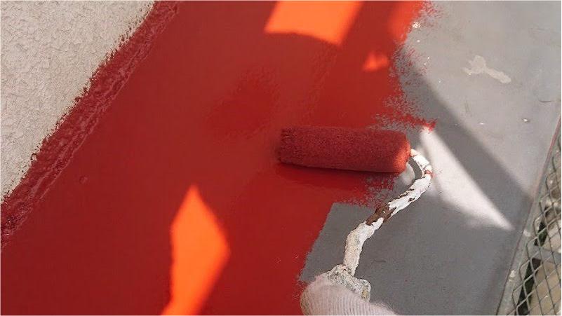 鉄部塗装の錆止め塗装