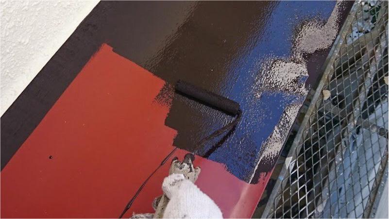 鉄部塗装の上塗り