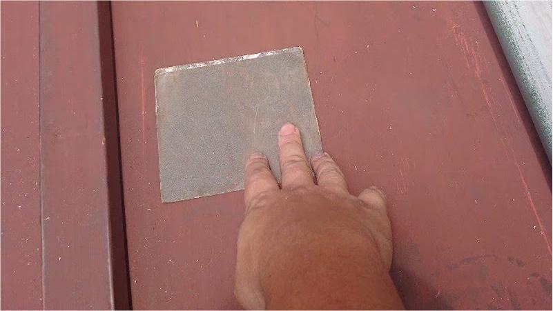 下屋根瓦棒の補修工事