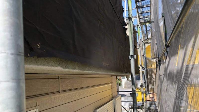 外壁の既存の外壁材の撤去