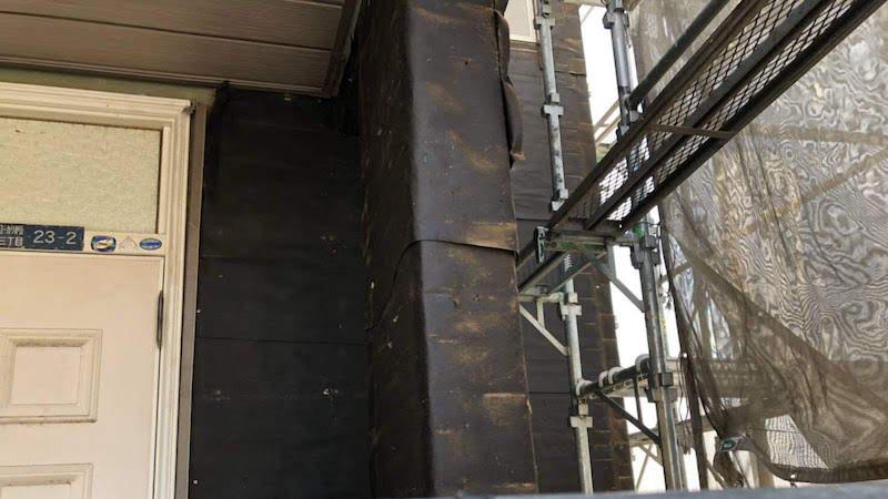 外壁の外壁材の撤去
