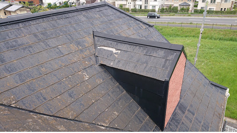 屋根カバー工法の施工前の様子
