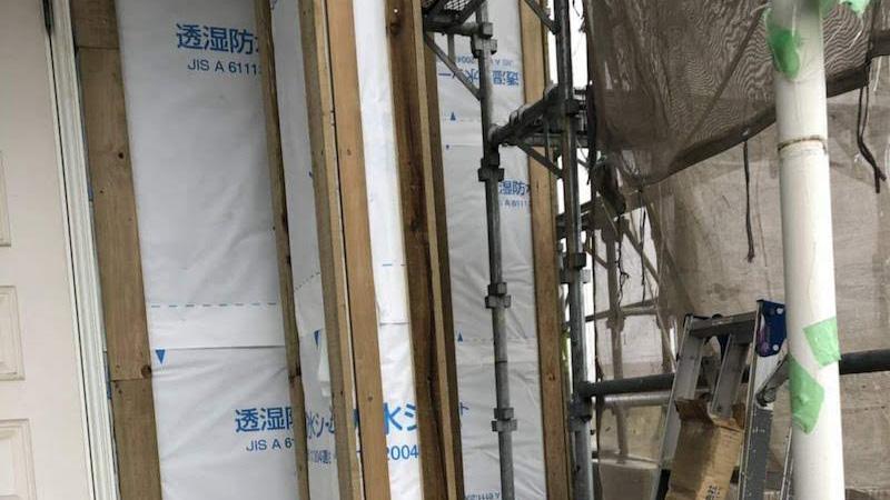 胴縁の施工