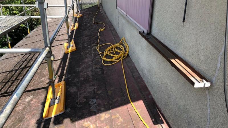 屋根板金の撤去