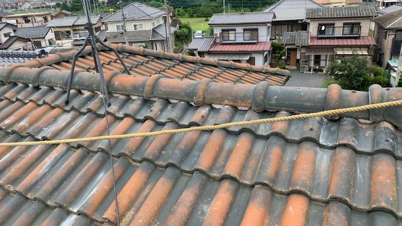 三郷市の屋根修理の施工前の様子