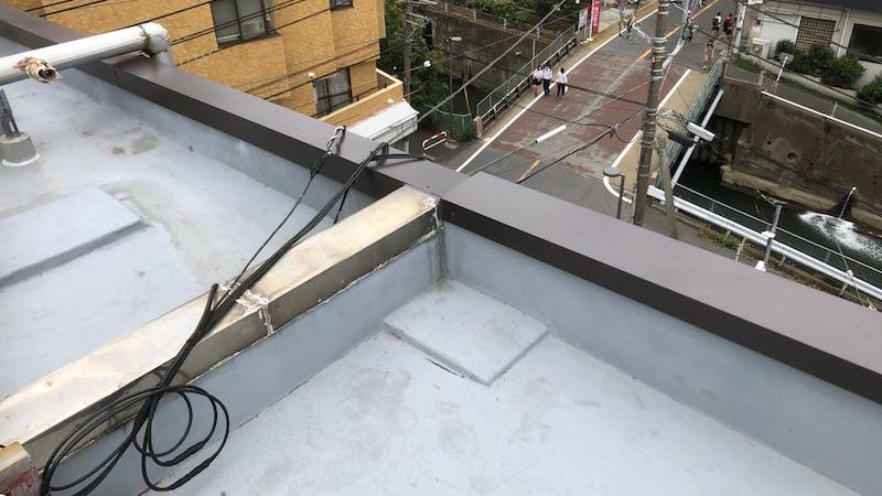 屋上の笠木の交換工事