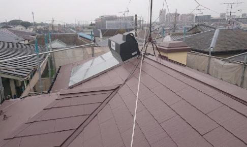柏市の屋根塗装工事
