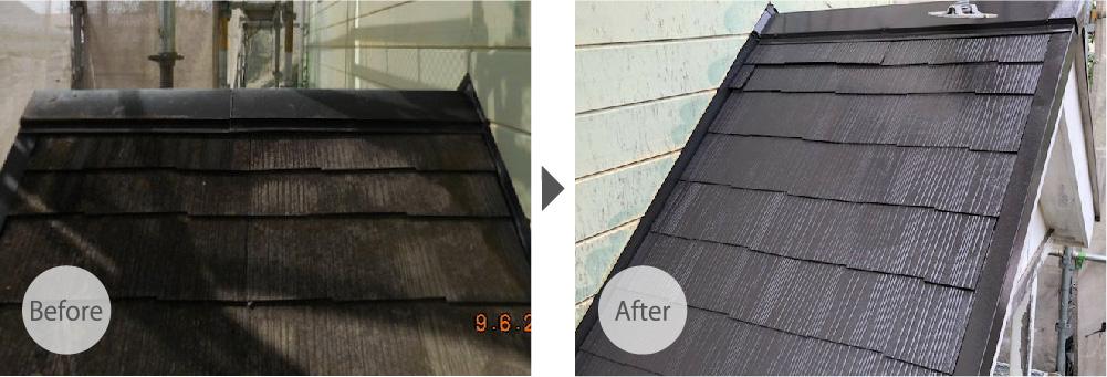 千葉市の屋根塗装のビフォーアフター