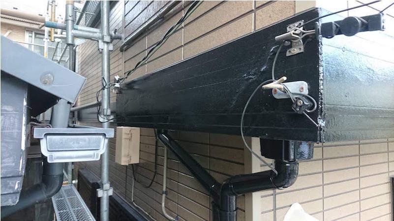 破風板の補修後の様子