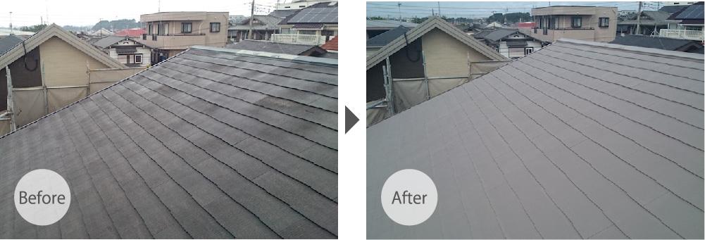 葛飾区の屋根塗装のビフォーアフター