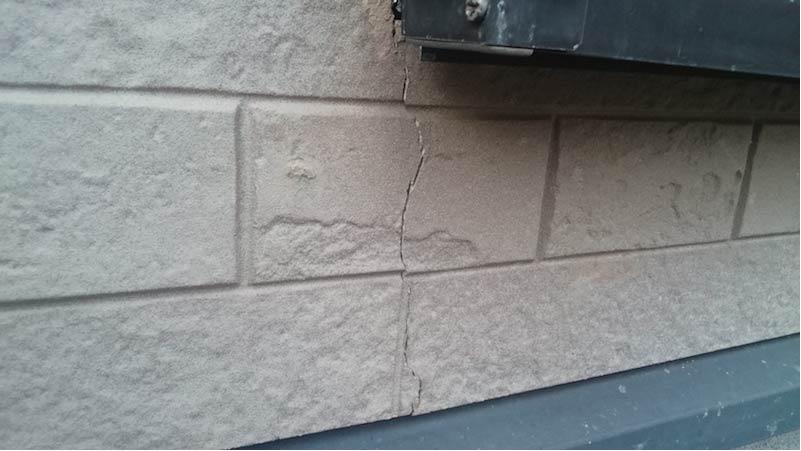 市川市の外壁・屋根塗装の外壁のひび割れ