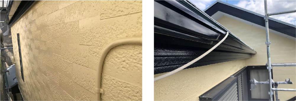 市川市の外壁塗装の施工後の様子