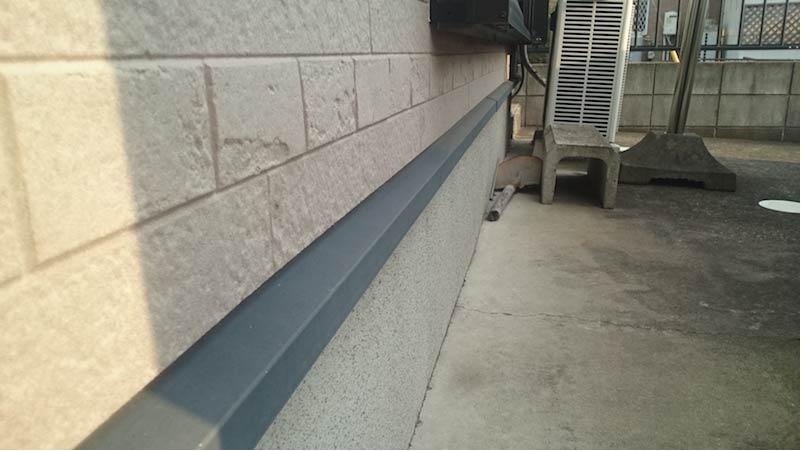 市川市の外壁・屋根塗装の施工前の様子