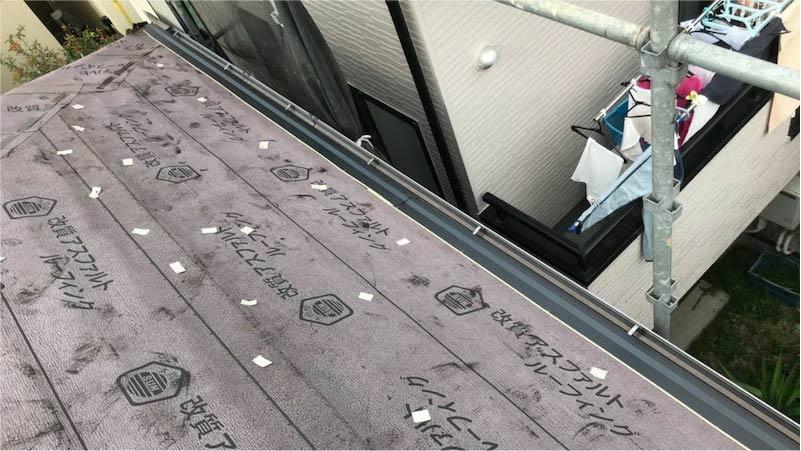 埼玉県三郷市の屋根の役物の施工