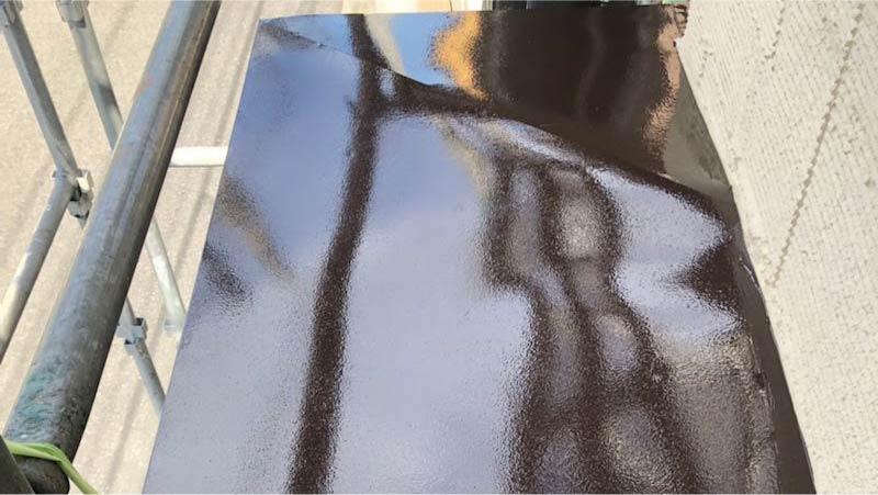 三郷市の外壁塗装の鉄部の塗装