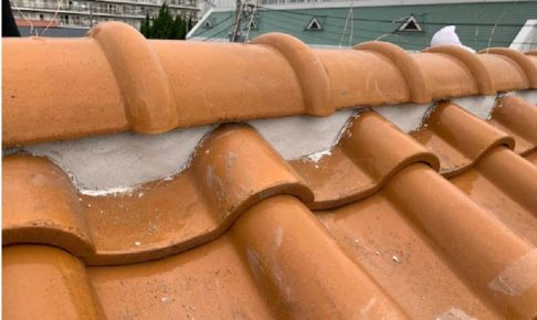 千葉市の屋根修理(棟の積み直し工事)の施工事例
