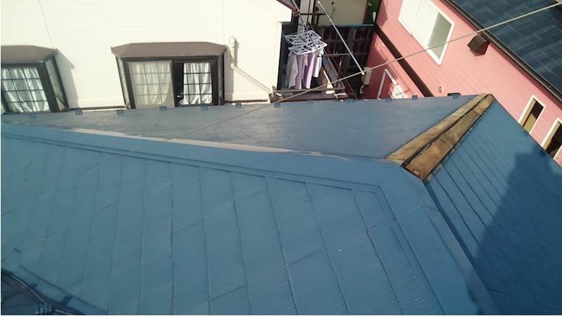 船橋市の棟板金交換工事の施工前の様子