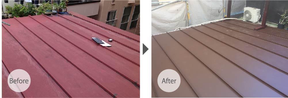 江戸川区の屋根葺き替えビフォーアフター