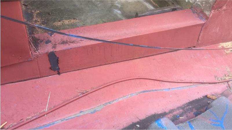 江戸川区の下屋根の板金工事