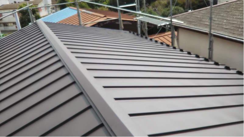 松戸市の屋根葺き替え工事の施工後の様子