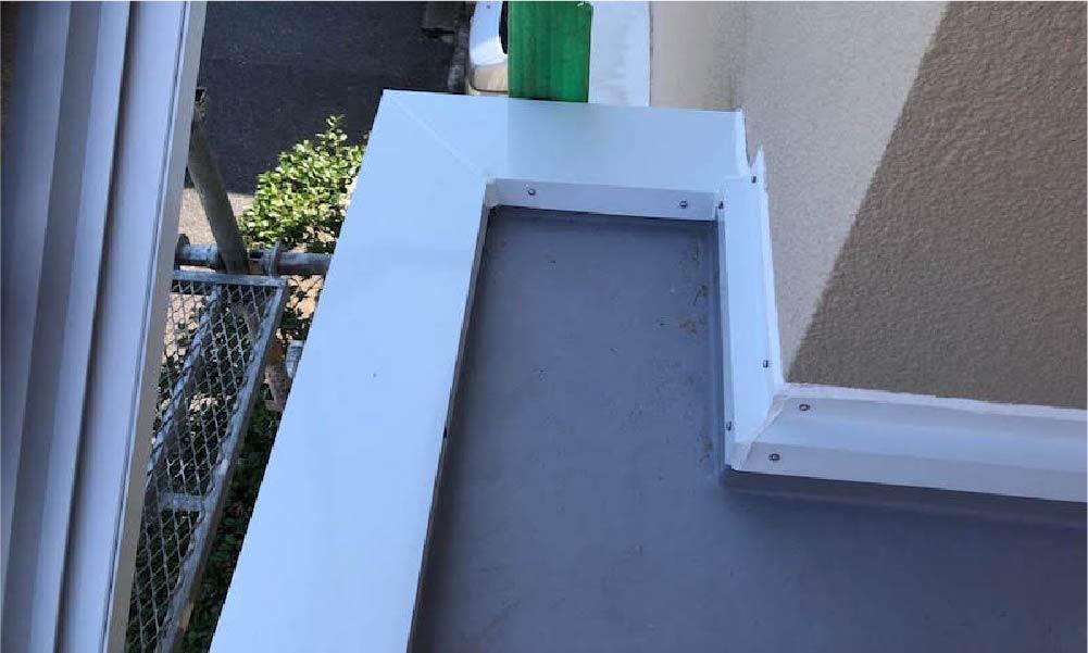 葛飾区のパラペットの防水工事