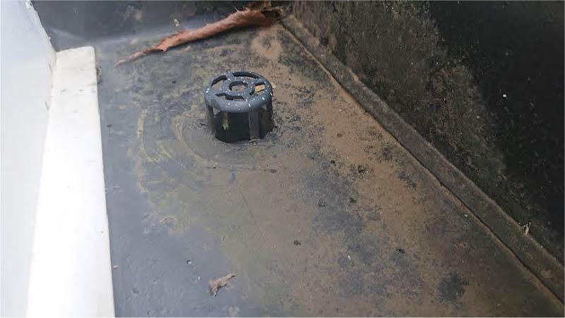 葛飾区のパラペットの防水工事の施工前の様子
