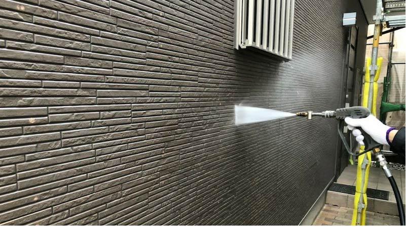 千葉県我孫子市の屋根塗装工事の高圧洗浄