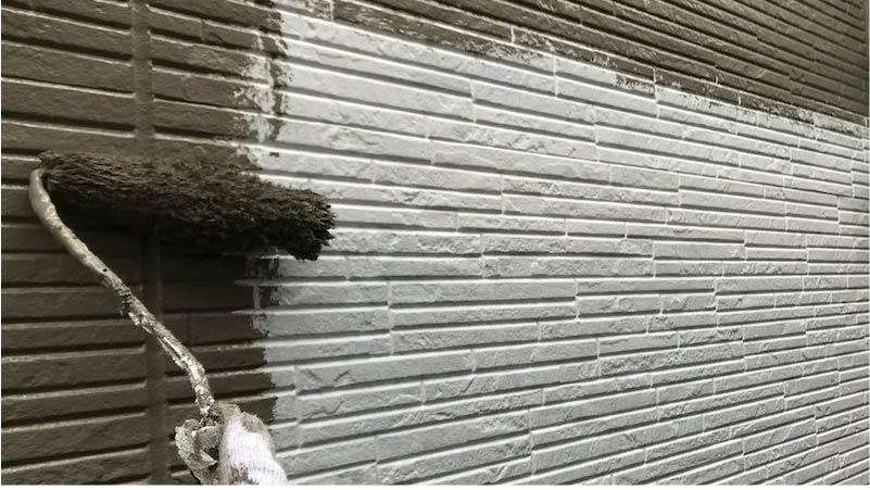 千葉県我孫子市の外壁塗装の下塗り